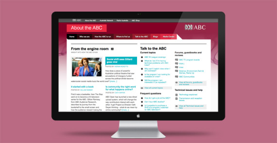 About the ABC website Design