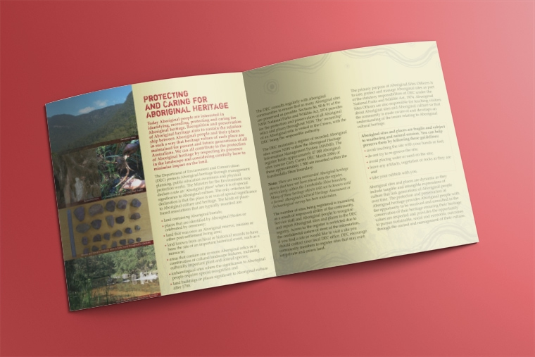 aboriginal heritage brochure design
