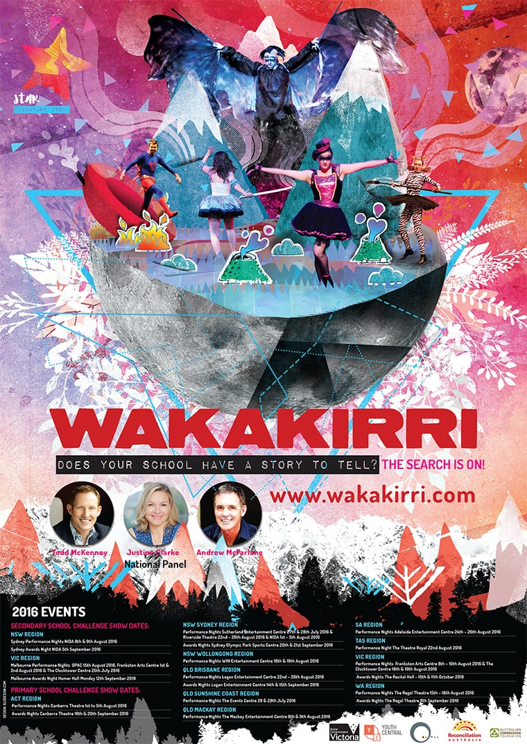 poster design for wakakirri