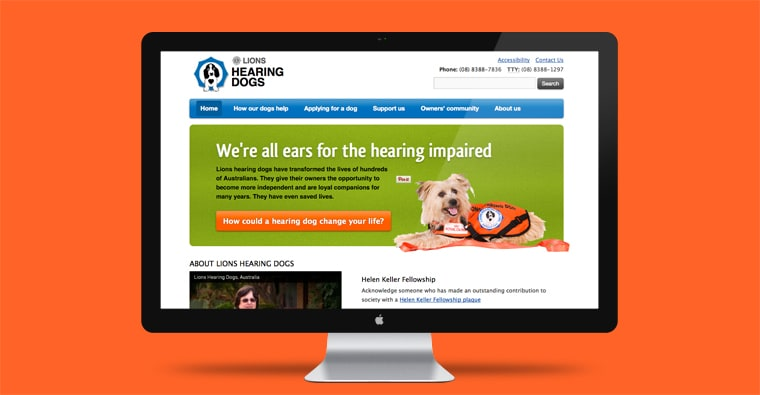 lions hearing dogs website