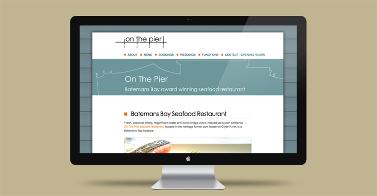 on the pier website design