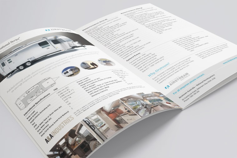 airstream brochure design