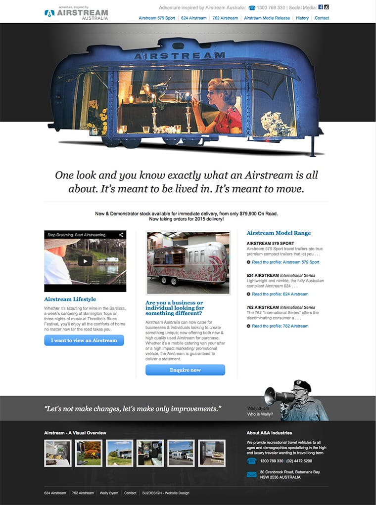 Airstream web design