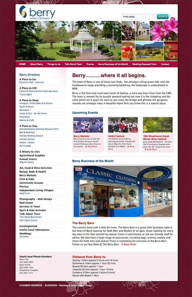 Berry Tourism Website