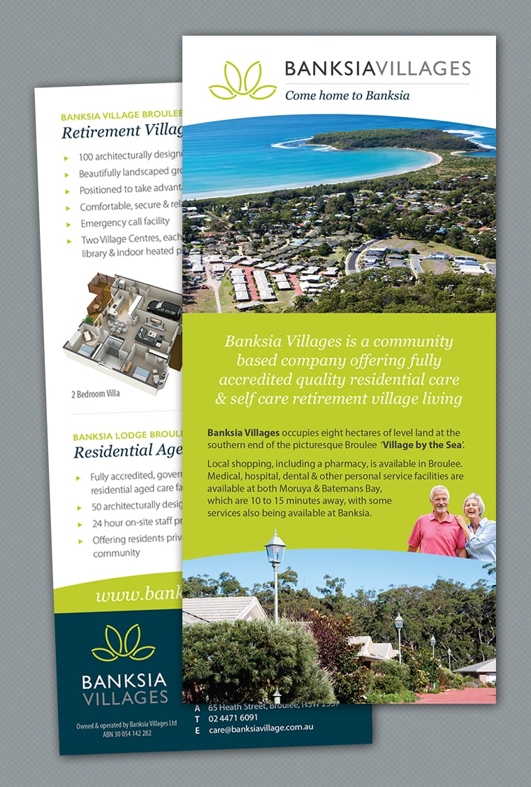 brochure design retirement village
