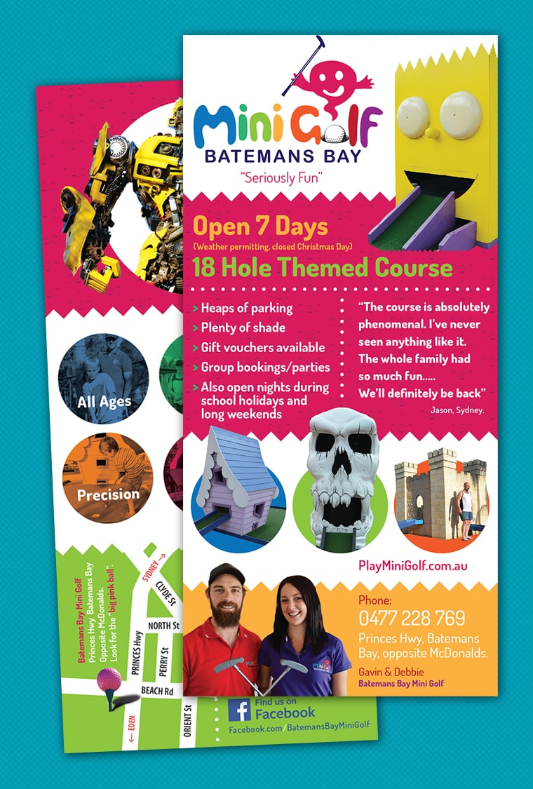 batemans bay mini golf brochure