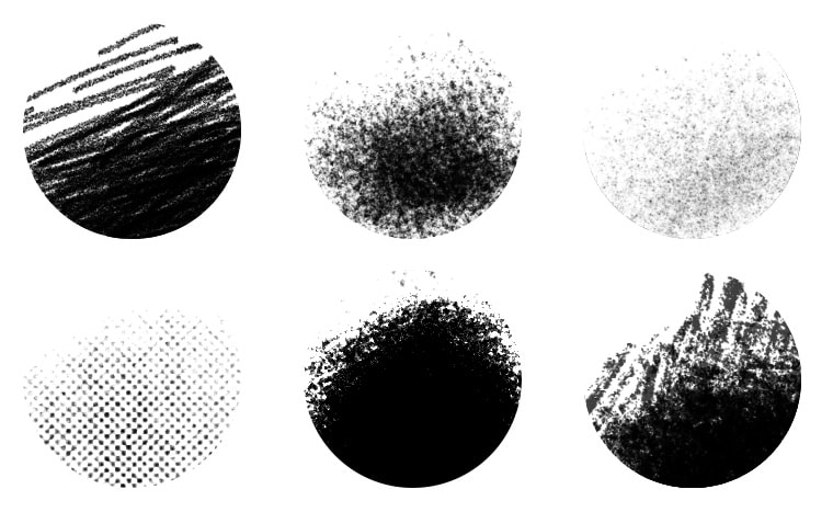 Photoshop Brushes for Halftones, Textures & Grit Effects for