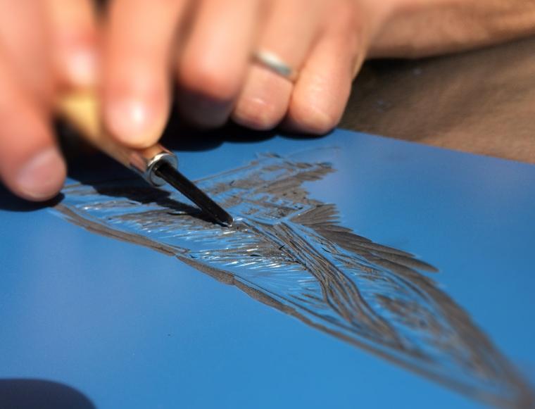 cutting lino logo