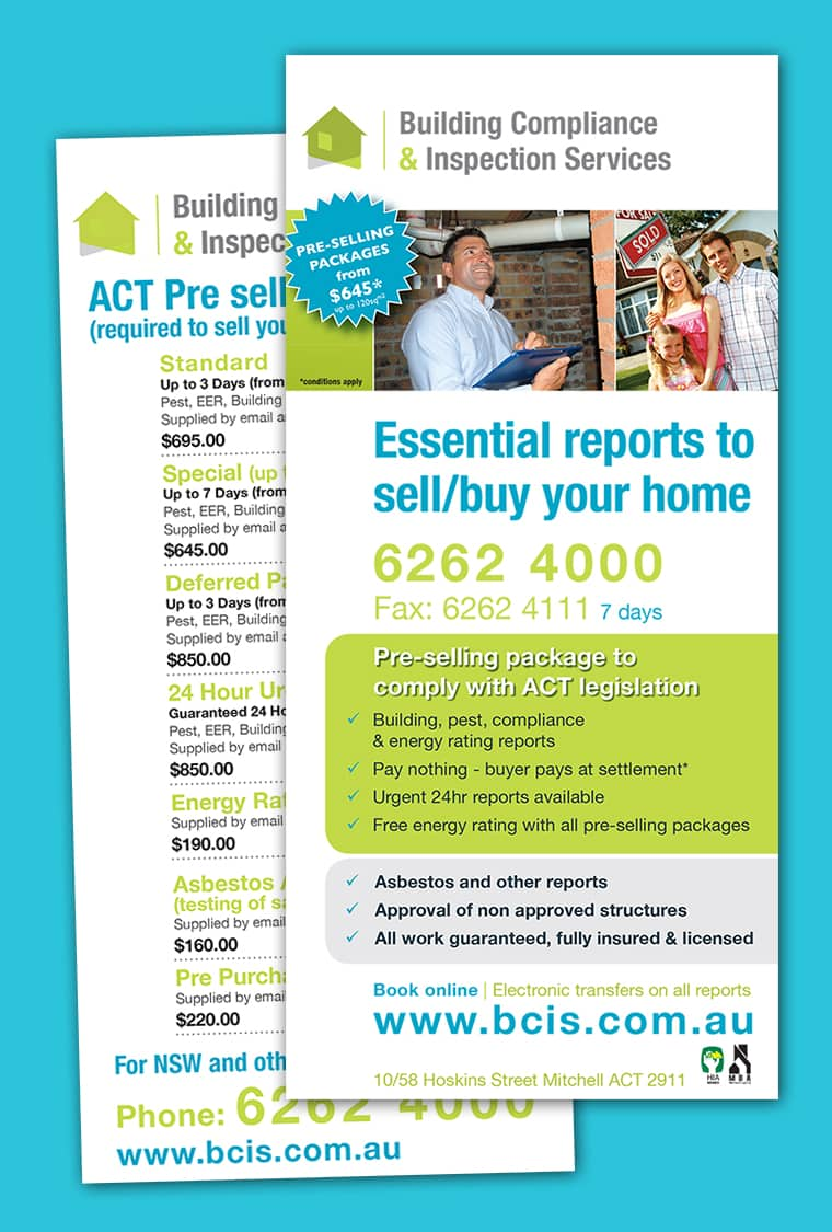 dl brochure design canberra
