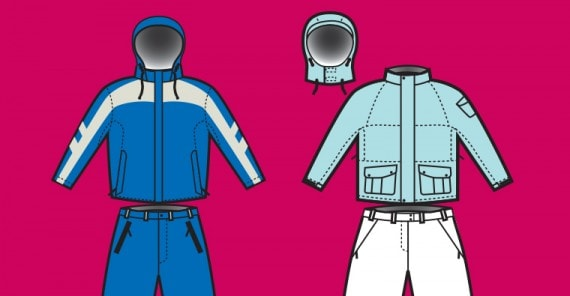 Snowboard Clothing Vector Illustrations