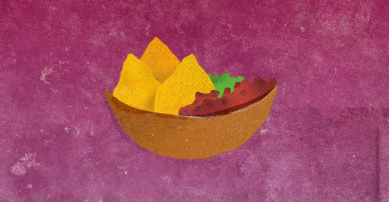 nachos illustration drawing