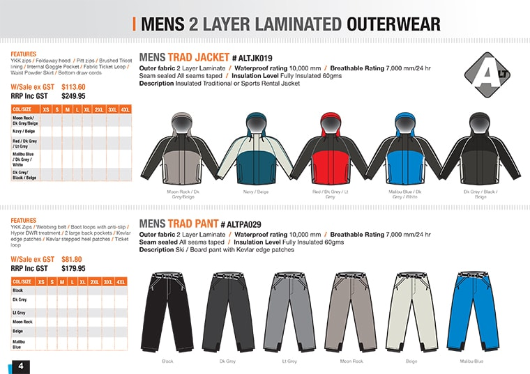 snowboard clothing illustration