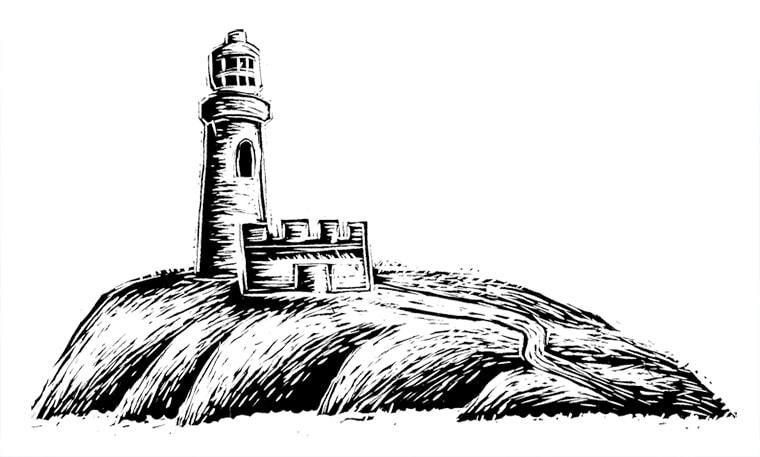 linocut logo design