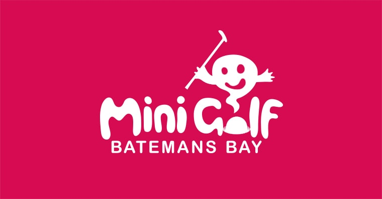 batemans bay mini golf logo design