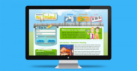 myfunland website design