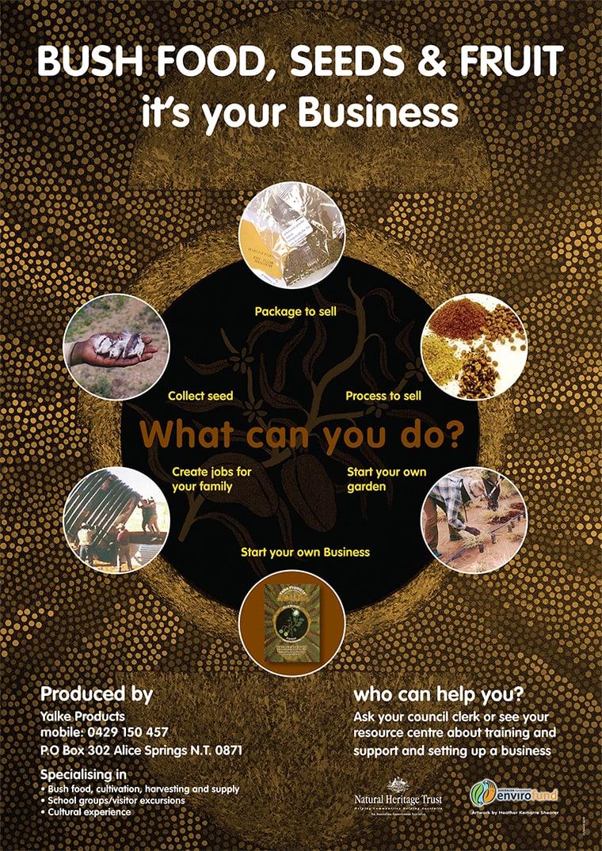 poster design bushfoods