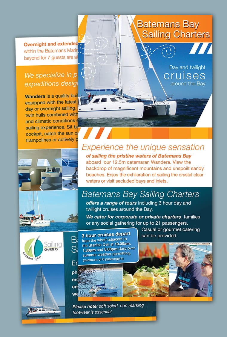sailing brochure design batemans bay