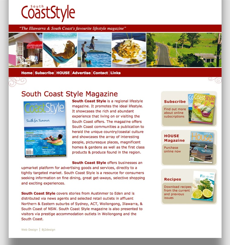 South Coast Style Magazine Website Design