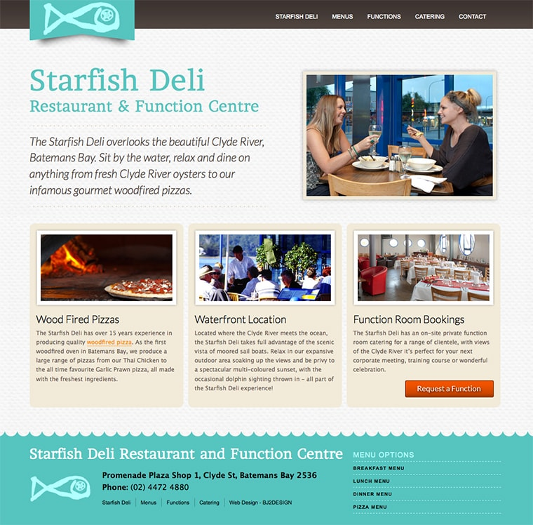 starfish deli website design