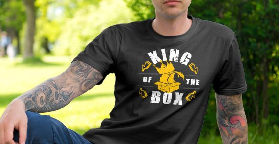 king of the box t-shirt