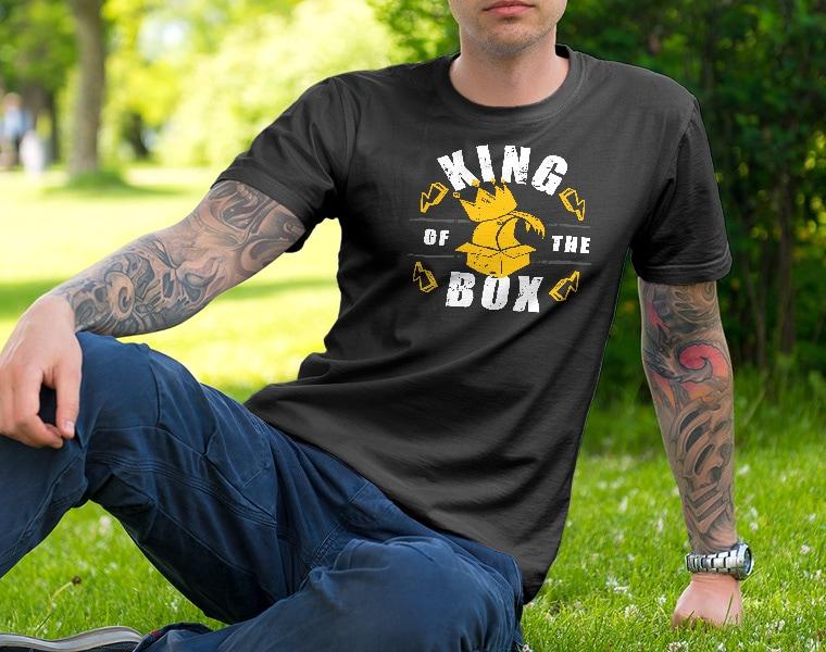 tshirt king of the box