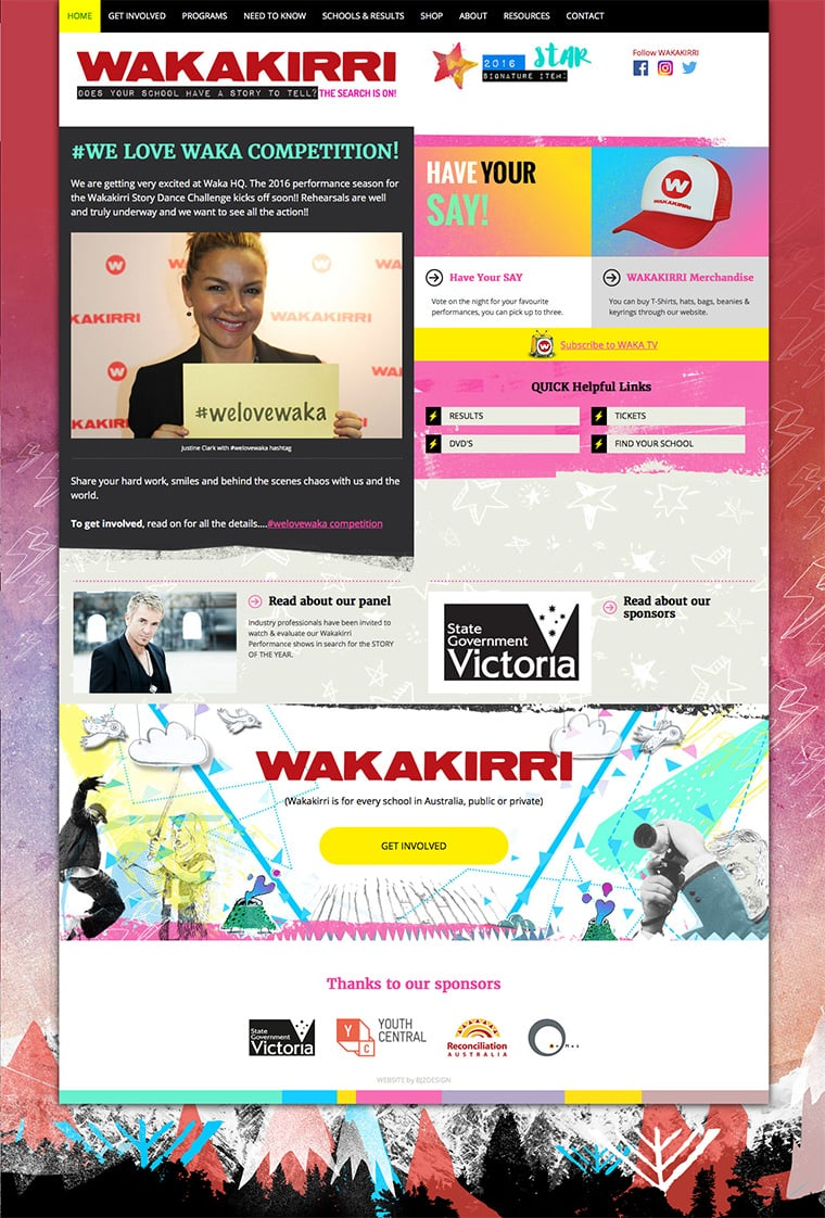Wakakirri WordPress design