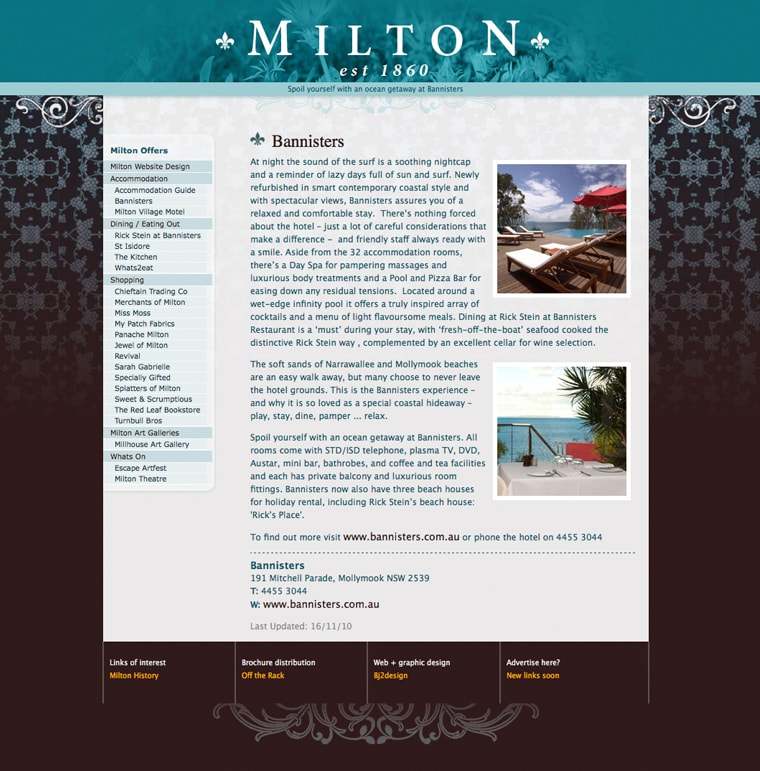 ulladulla website milton